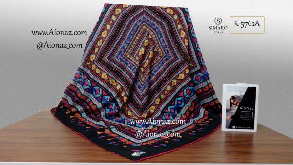 روسری نخی پاییزه سیمارو کد k-5762 نمای کلی