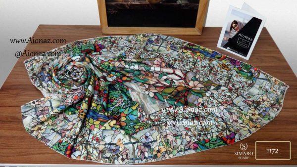روسری نخی پاییزه سیمارو کد 1172 نمای بالا