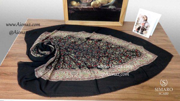روسری نخی پاییزه سیمارو کندویی نمای بالا