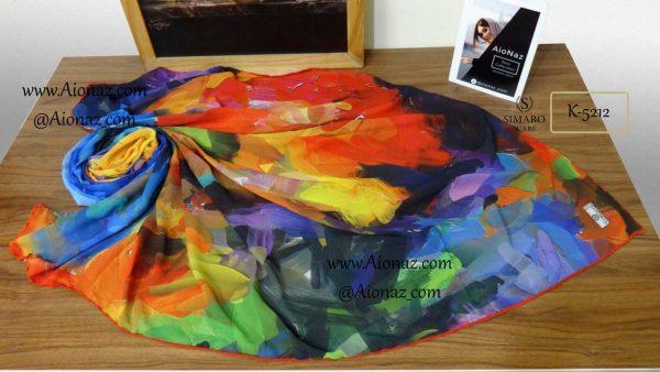 روسری نخی پاییزه سیمارو کد k-5212 نمای بالا