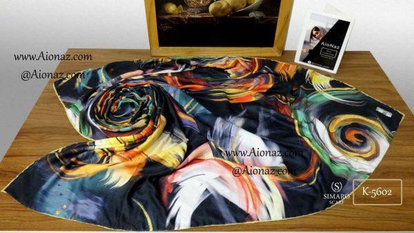 روسری نخی پاییزه سیمارو کد k-5602 نمای بالا