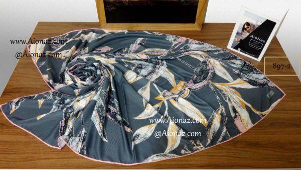 روسری نخی پاییزه روژه کد 897-2 نمای بالا