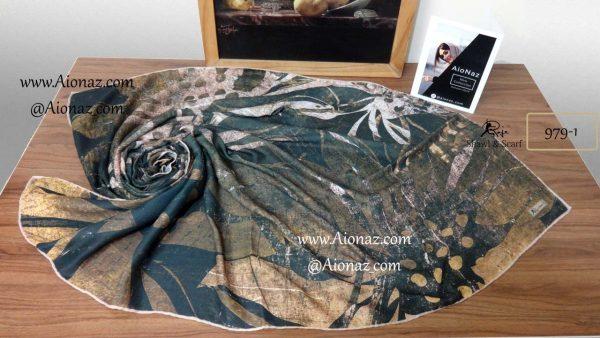 روسری نخی پاییزه روژه کد 979-1 نمای بالا