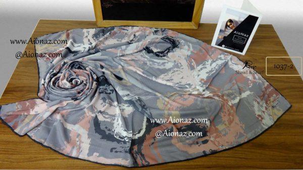 روسری نخی پاییزه روژه کد 1037-2 نمای بالا