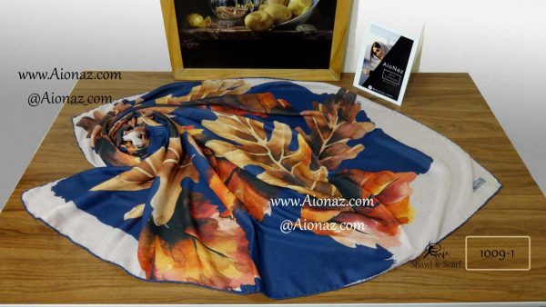 روسری نخی پاییزه روژه کد 1009-1 نمای بالا