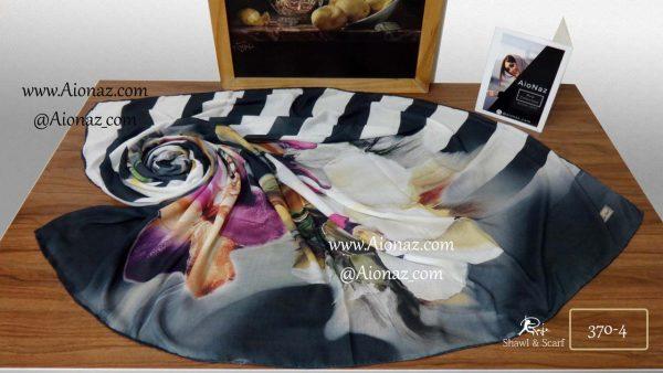 روسری نخی پاییزه روژه کد 370-4 نمای بالا