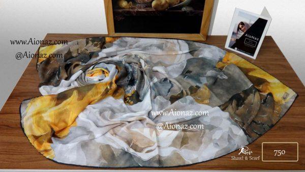 روسری نخی پاییزه روژه کد 750 نمای بالا