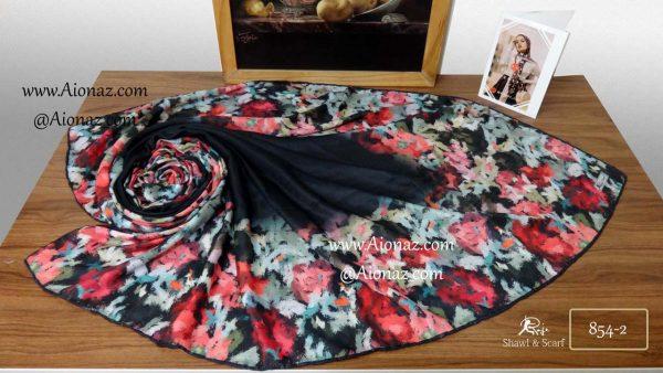 روسری نخی پاییزه روژه کد 854-2 نمای بالا