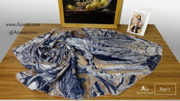 روسری نخی پاییزه روژه کد 899-2 نمای بالا