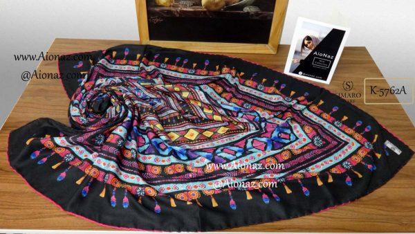 روسری نخی پاییزه سیمارو کد k-5762 نمای بالا