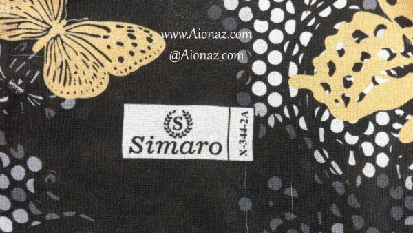 روسری حریر مجلسی سیمارو کد x-344-2a نمای نزدیک