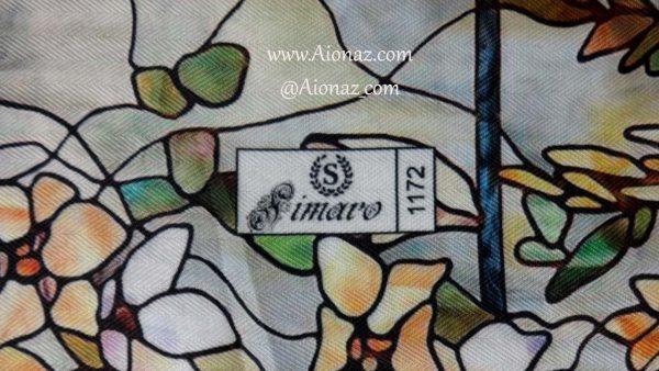 روسری نخی پاییزه سیمارو کد 1172 نمای نزدیک