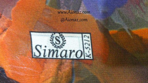 روسری نخی پاییزه سیمارو کد k-5212 نمای نزدیک