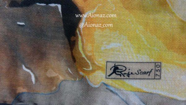 روسری نخی پاییزه روژه کد 750 نمای نزدیک