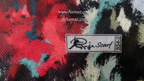 روسری نخی پاییزه روژه کد 854-2 نمای نزدیک