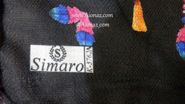 روسری نخی پاییزه سیمارو کد k-5762 نمای نزدیک