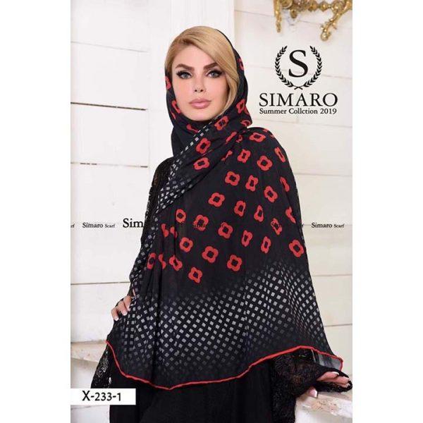 روسری حریر مجلسی سیمارو کد x-233-1
