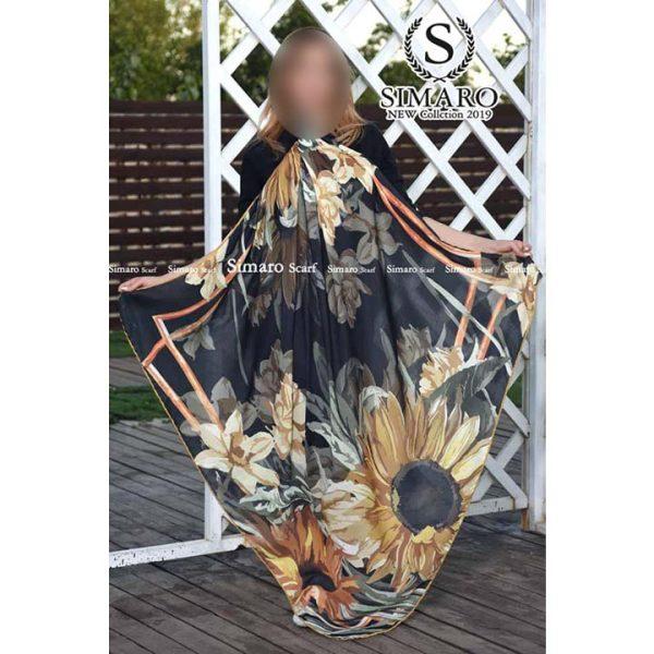 روسری نخی پاییزه سیمارو کد h217 نمای باز