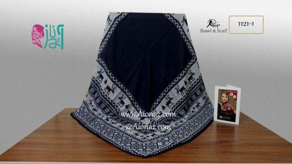 روسری نخی پاییزه روژه کد 1121-1 نمای کلی