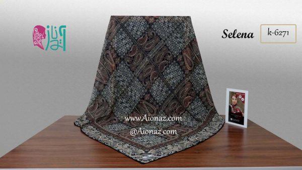 روسری حریر مجلسی سیمارو کد k-6271 نمای کلی