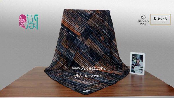 روسری حریر مجلسی سیمارو کد K-6256 نمای کلی