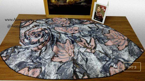 روسری نخی پاییزه روژه کد 927-3 نمای بالا