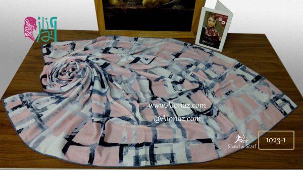 روسری نخی پاییزه روژه کد 1023-1 نمای بالا