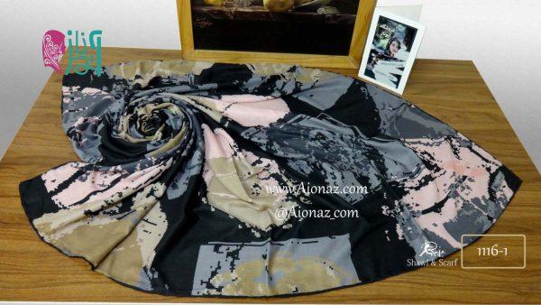 روسری نخی پاییزه روژه کد 1116-1 نمای بالا