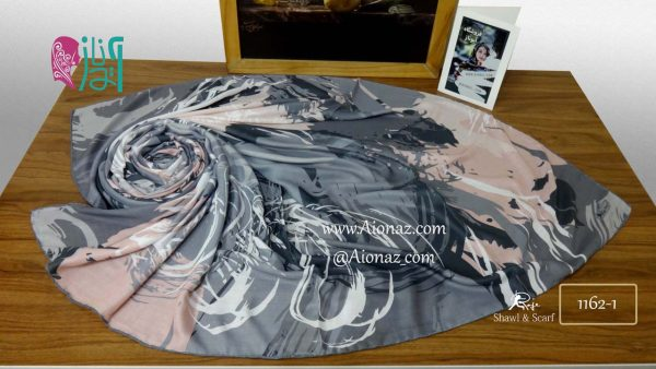 روسری نخی پاییزه روژه کد 1162-1 نمای بالا