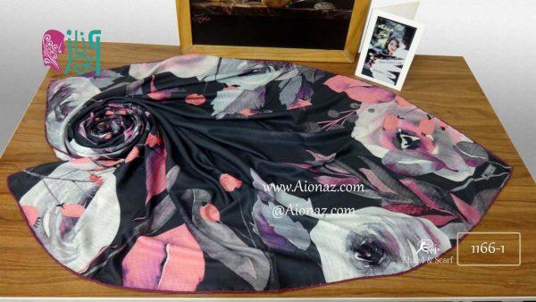 روسری نخی پاییزه روژه 1166-1 نمای بالا