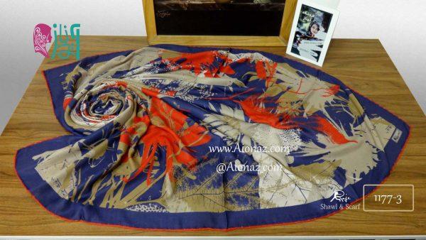 روسری نخی پاییزه روژه کد 1177-3 نمای بالا