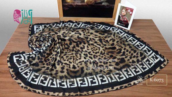 روسری حریر مجلسی سیمارو کد K-6073 نمای بالا