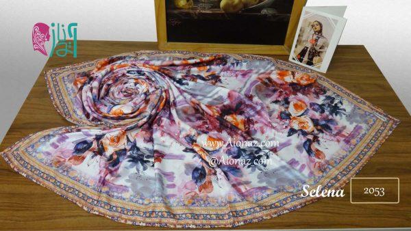 روسری نخی پاییزه سلنا کد 2053 نمای بالا