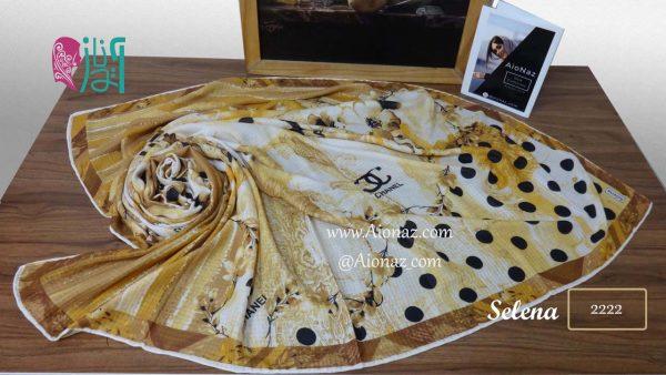 روسری نخی پاییزه سلنا کد2222 نمای بالا