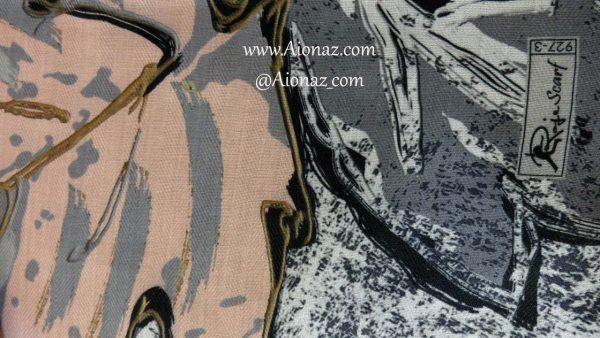 روسری نخی پاییزه روژه کد 927-3 نمای نزدیک