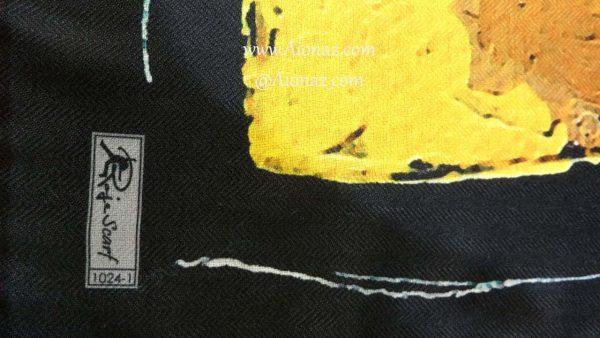 روسری نخی پاییزه روژه کد 1024-1 نمای نزدیک