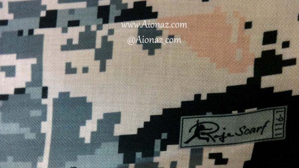 روسری نخی پاییزه روژه کد 1116-1 نمای نزدیک