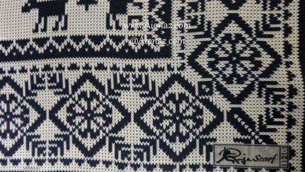 روسری نخی پاییزه روژه کد 1121-1 نمای نزدیک