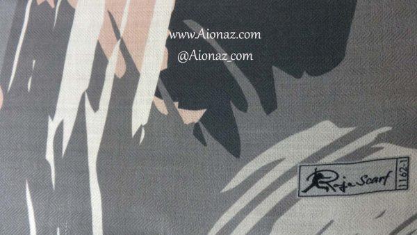 روسری نخی پاییزه روژه کد 1162-1 نمای نزدیک