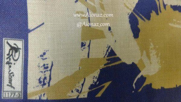 روسری نخی پاییزه روژه کد 1177-3 نمای نزدیک