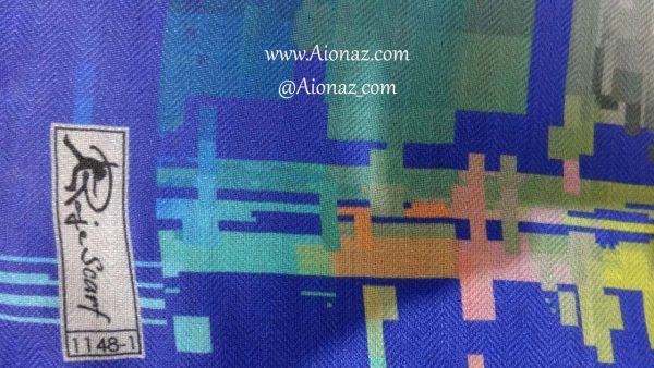 روسری نخی پاییزه روژه کد 1148-1 نمای نزدیک