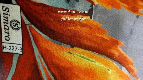 روسری حریر مجلسی سیمارو کد H-227-3 نمای نزدیک