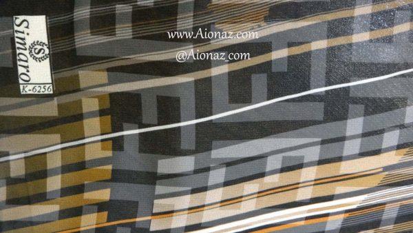 روسری حریر مجلسی سیمارو کد K-6256 نمای نزدیک