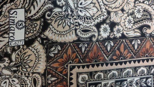 روسری حریر مجلسی سیمارو کد k-6271 نمای نزدیک