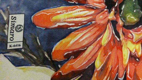 روسری حریر مجلسی سیمارو کد k-6416 نمای نزدیک