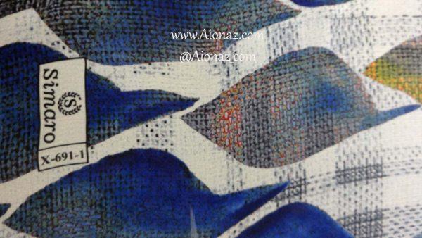 روسری حریر مجلسی سیمارو کد X-691-1 نمای نزدیک
