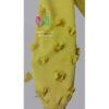 شومیز بلند طرح شکوفه رنگ زرد اُکر نمای آستین