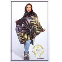 روسری نخی پاییزه ماری طرح خوشه ای طلایی