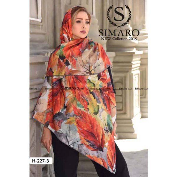روسری حریر مجلسی سیمارو کد H-227-3