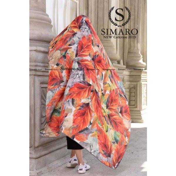 روسری حریر مجلسی سیمارو کد H-227-3 نمای باز